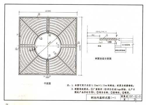 人行道路面结构图(一)