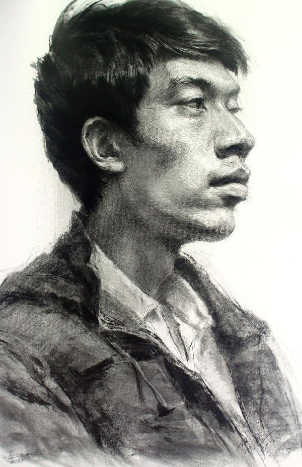 教学风暴:邵波素描头像技法解析