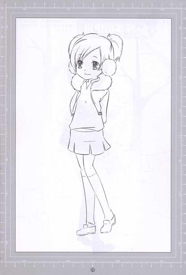 《漫画人物教学描摹本》精品绘本(丛书)全套共6本,分《美少女篇》