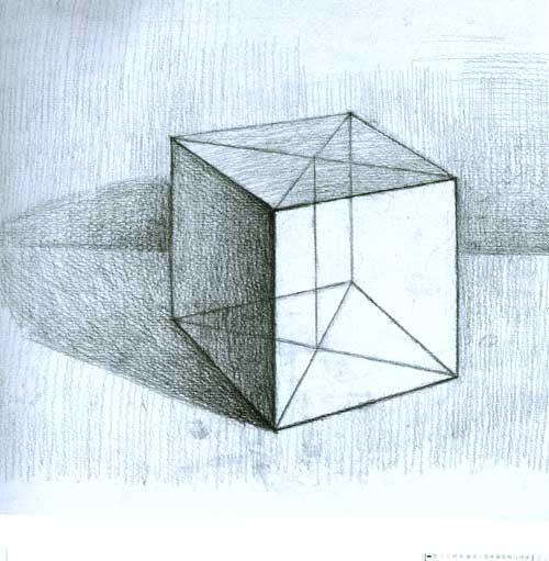 学院派基础训练/怎样画结构几何体