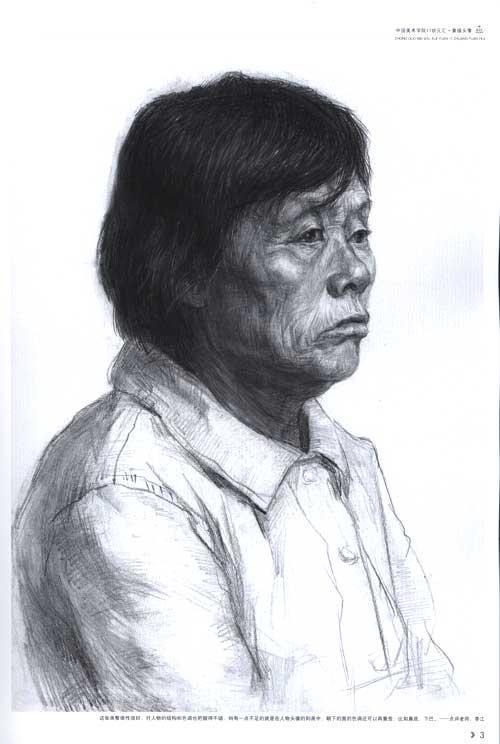 中国美术学院 17 状元汇--素描头像