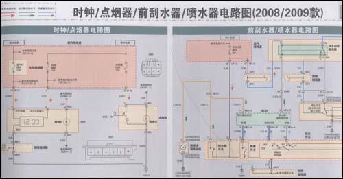 款)    防盗系统电路图(2008/2009款)    语音系统/音响系统电路图