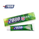 韩国原装进口爱敬2080绿茶清凉牙膏120g 消除口臭口气清洁牙齿 8801046886311