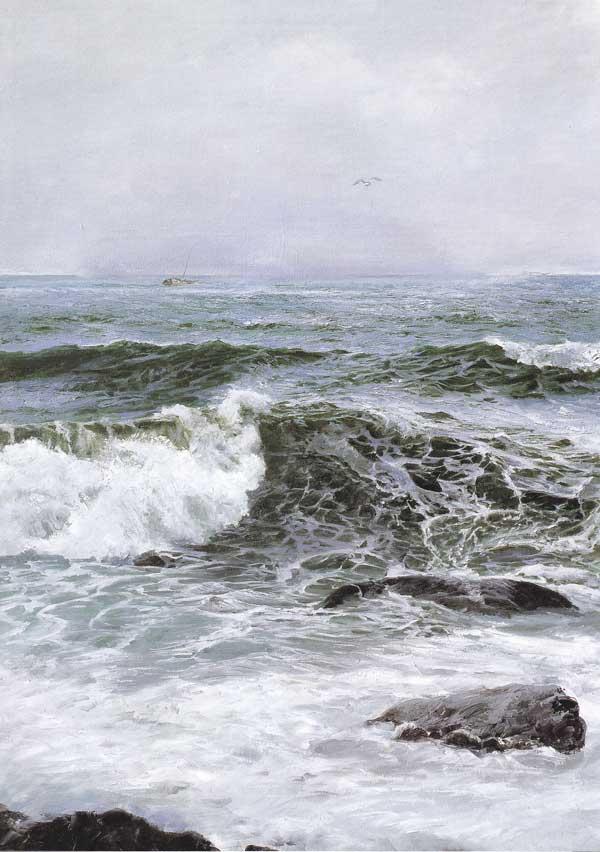 蓝色的爱·于普洁海景油画