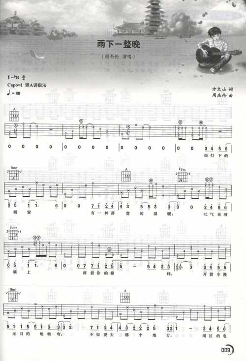 简单的吉他六线谱歌曲