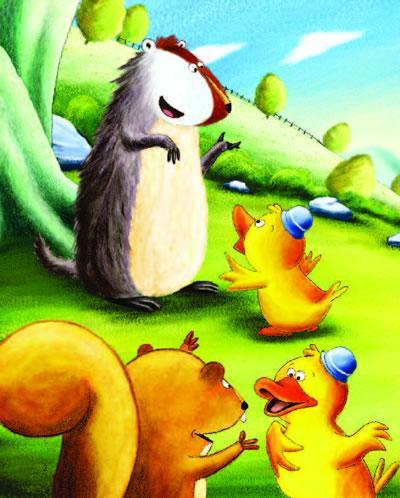 小鸭子嘎嘎每天在森林里跟动物们聊天